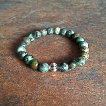 African Turquoise Healing Energy Bracelet (stretch)