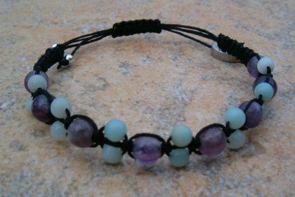 Amethyst & Amazonite Healing Bracelet