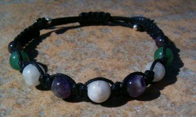 Moonstone, Amethyst & Aventurine Healing Energy Bracelet