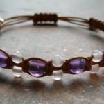 Amethyst & Rose Quartz Healing Energy Bracelet