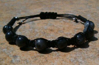 Larvikite or Black Labradorite Healing Energy Bracelet