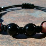 Black Obsidian & Rhodonite Healing Energy Bracelet