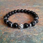 Black Onyx Healing Energy Bracelet - elastic
