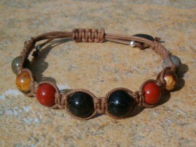 Black Tourmaline & 3 Jaspers Healing Bracelet