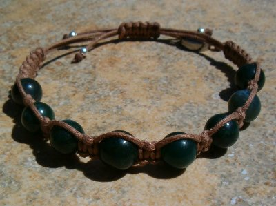 Green Bloodstone Healing Energy Bracelet