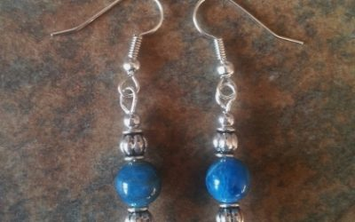 Blue Apatite Earrings