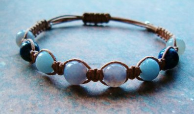 Blue Chalcedony, Lapis & Angelite Healing Bracelet