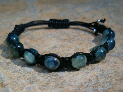 Blue Kyanite Healing Energy Bracelet