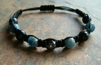 Blue Kyanite & Dumortierite Healing Energy Bracelet