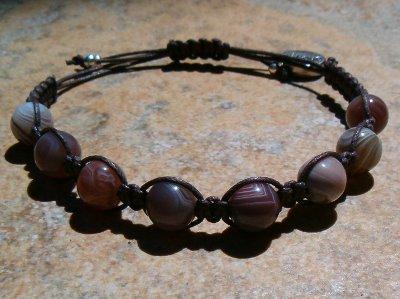 Botswana Agate Healing Energy Bracelet