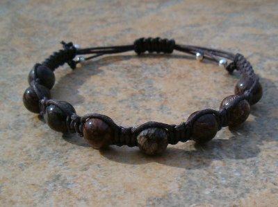 Brown Snowflake Jasper Healing Energy Bracelet