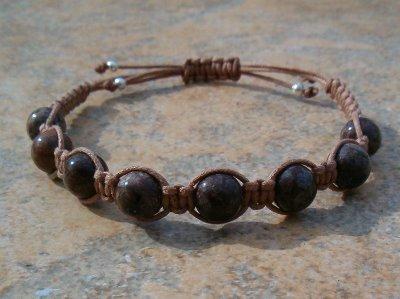 Brown Snowflake Jasper Healing Bracelet