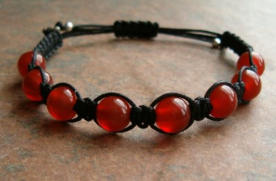 Dark Carnelian Healing Energy Bracelet