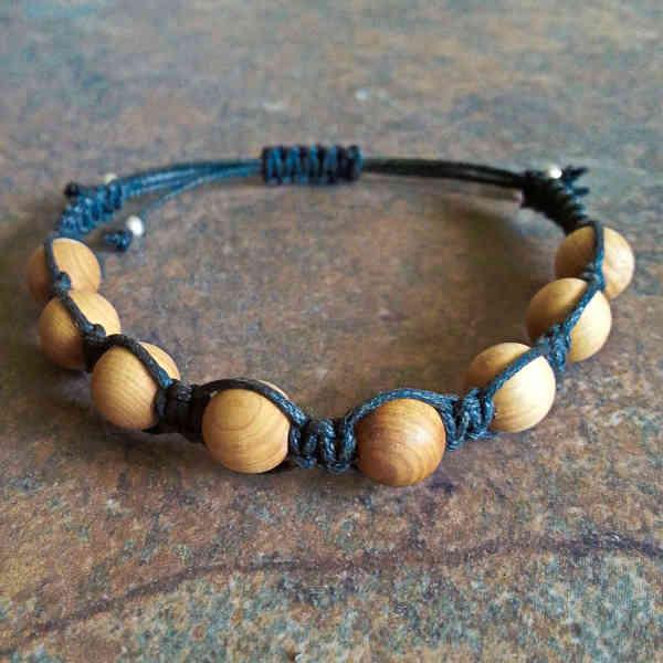 Cedar Wood Healing Energy Bracelet