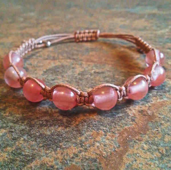 Cherry Quartz Healing Energy Bracelet