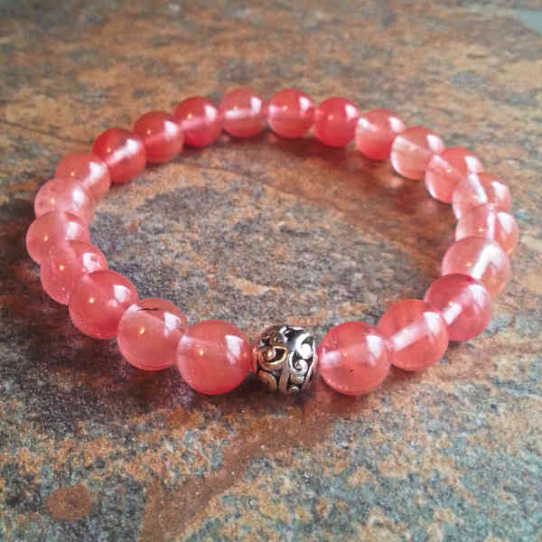 Cherry Quartz Healing Energy Bracelet (elastic)
