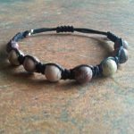 Chinese Writing Stone Healing Energy Bracelet