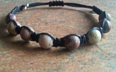 Chinese Writing Stone Healing Energy Bracelet