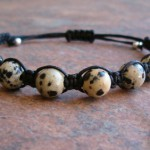 Dalmatian Stone Healing Energy Bracelet