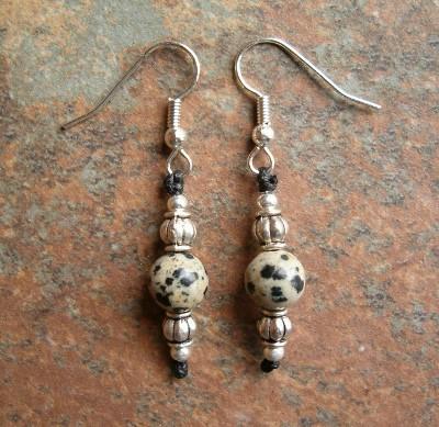 Dalmatian Stone (Jasper) Earrings