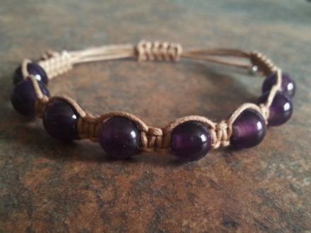 Dark Amethyst Healing Energy Bracelet