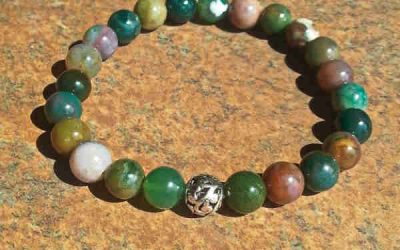 Fancy Jasper Healing Energy Bracelet (stretch)