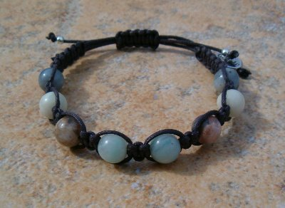 Flower Amazonite Healing Energy Bracelet #2