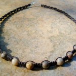 Brown Fossil Coral Healing Energy Necklace