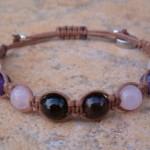 Garnet, Rose Quartz, Amethyst & Snow Quartz Healing Bracelet