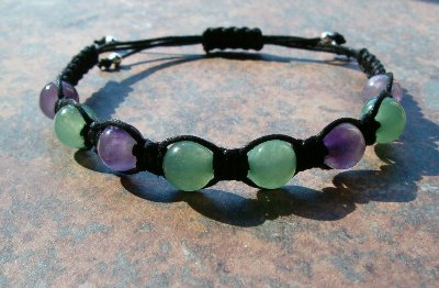 Green Aventurine & Amethyst Healing Energy Bracelet