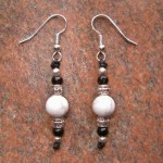 Howlite & Black Obsidian Earrings