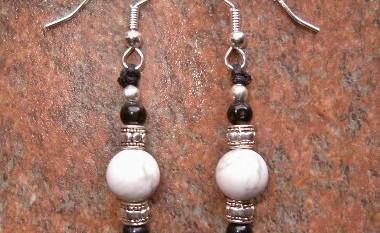 Howlite & Obsidian Earrings