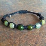 Jade, New Jade, Jungle Jasper & Obsidian Bracelet