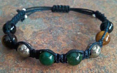 Jade, Pyrite, Tiger Eye & Onyx Healing Energy Bracelet