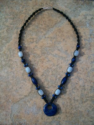 Lapis & Blue Chalcedony Necklace