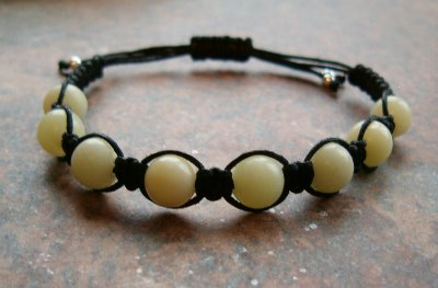 lemon jade (new jade) healing energy bracelet