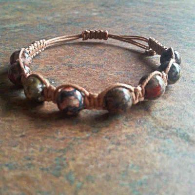 Leopard Skin Jasper Healing Energy Bracelet