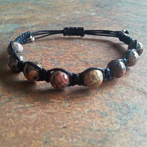 Leopardskin Jasper Healing Energy Bracelet