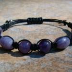 Amethyst, Lilac Stone, Purple Lepidolite & Pink Tourmaline Healing Energy Bracelet