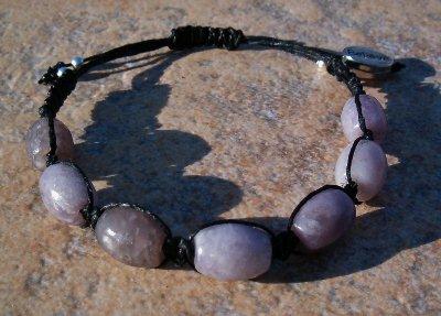 Lilac / Lavender Stone Healing Energy Bracelet