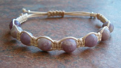 Lilac (Lavender) Stone Healing Energy Bracelet