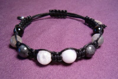 Moonstone, Labradorite & Obsidian Healing Bracelet