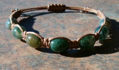 Moss Agate Healing Energy Bracelet #2