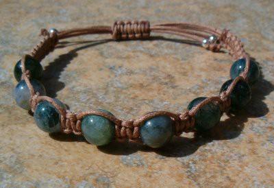 Moss Agate Healing Energy Bracelet