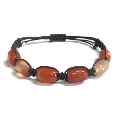 Natural Carnelian Healing Energy Barrel Bracelet