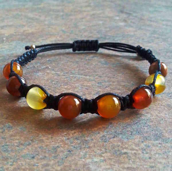 Natural Carnelian Healing Energy Bracelet
