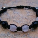 Black Obsidian & Rose Quartz Healing Bracelet