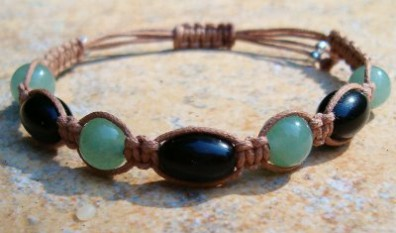 Black Onyx & Green Aventurine Healing Energy Bracelet