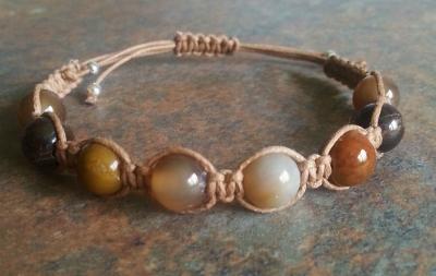 Petrified Wood Healing Energy Bracelet