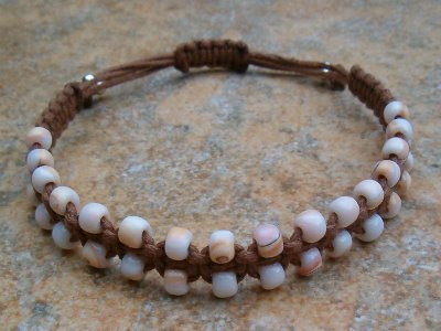 Pink Conch Shell Healing Bracelet